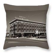 Hotel Yellowstone Throw Pillow