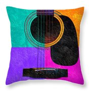 Hour Glass Guitar 4 Colors 2 Throw Pillow