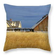 House And Barn Throw Pillow