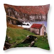House At The Coast Throw Pillow