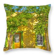 House In The Barrio Throw Pillow