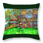 House Of Cats Throw Pillow
