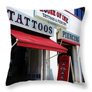 House Of Ink Throw Pillow
