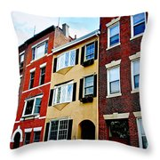 Houses In Boston Throw Pillow