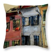 Houses In Transylvania 1 Throw Pillow