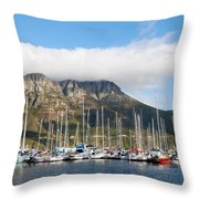 Hout Bay Harbour Throw Pillow
