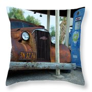 How Long Have You Been Waiting For Gas Throw Pillow