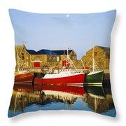 Howth Harbour, County Dublin, Ireland Throw Pillow