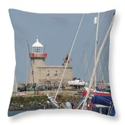Howth Lighthouse 0004 Throw Pillow