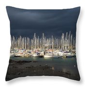 Howth Yacht Club Marina, Co Dublin Throw Pillow