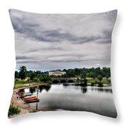 Hoyt Lake Delaware Park 0001 Throw Pillow