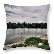 Hoyt Lake Delaware Park 0002 Throw Pillow