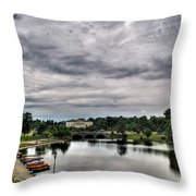 Hoyt Lake Delaware Park 0003 Throw Pillow