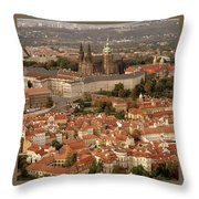 Hradcany In Prague Throw Pillow