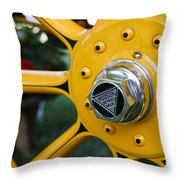 Hudson Wheel Throw Pillow