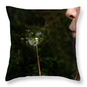 Huff N Puff Throw Pillow