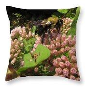Huge Bumble Bee Throw Pillow