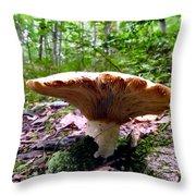 Huge White Wild Mushroom Throw Pillow