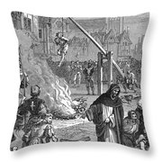 Huguenots: Persecution Throw Pillow