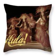 Hula Daguerreotype Throw Pillow