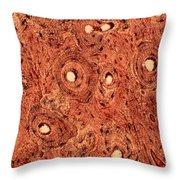 Human Bone Tissue Throw Pillow