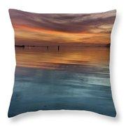 Humboldt Bay Dusk Throw Pillow