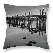 Humboldt Bay Ruins Throw Pillow