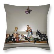 Hummel Nativity Set Throw Pillow