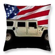 Hummer Patriot Throw Pillow