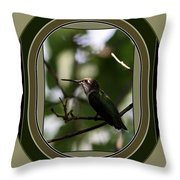Hummingbird - Card - Glint Of The Eye Throw Pillow