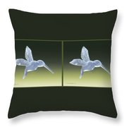 Hummingbird - Gently Cross Your Eyes And Focus On The Middle Image Throw Pillow