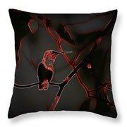Hummingbird - Ruby-throated Hummingbird- Different Throw Pillow
