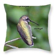 Hummingbird - Thinking Of You Throw Pillow