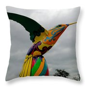 Hummingbird Art IIi Throw Pillow