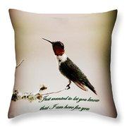 Hummingbird - Cards Throw Pillow