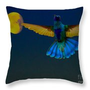 Hummingbird Moon Throw Pillow by Al Bourassa
