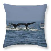 Humpback Flukes Throw Pillow