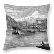 Hungary: Budapest, 1886 Throw Pillow
