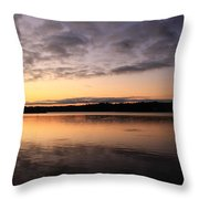 Hungry Fish At Sunrise Throw Pillow