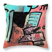 Hungry Robot Throw Pillow by Jera Sky