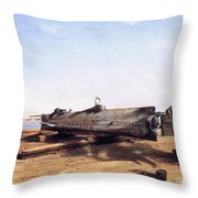 Hunley Submarine, 1863 Throw Pillow