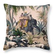 Hunting: Big Game, 1852 Throw Pillow