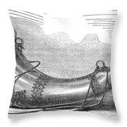 Hunting Horn, 1869 Throw Pillow