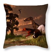 Hunting In The Age Gene Splicing Throw Pillow