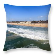 Huntington Beach Orange County California Throw Pillow