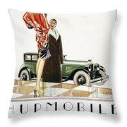 Hupmobile Ad, 1926 Throw Pillow