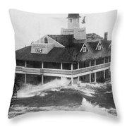 Hurricane Carol Throw Pillow