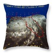 Hurricane Elena In 3-d Throw Pillow