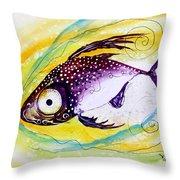 Hurricane Fish 7 Throw Pillow