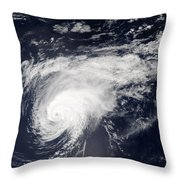 Hurricane Gordon Over The Atlantic Throw Pillow
